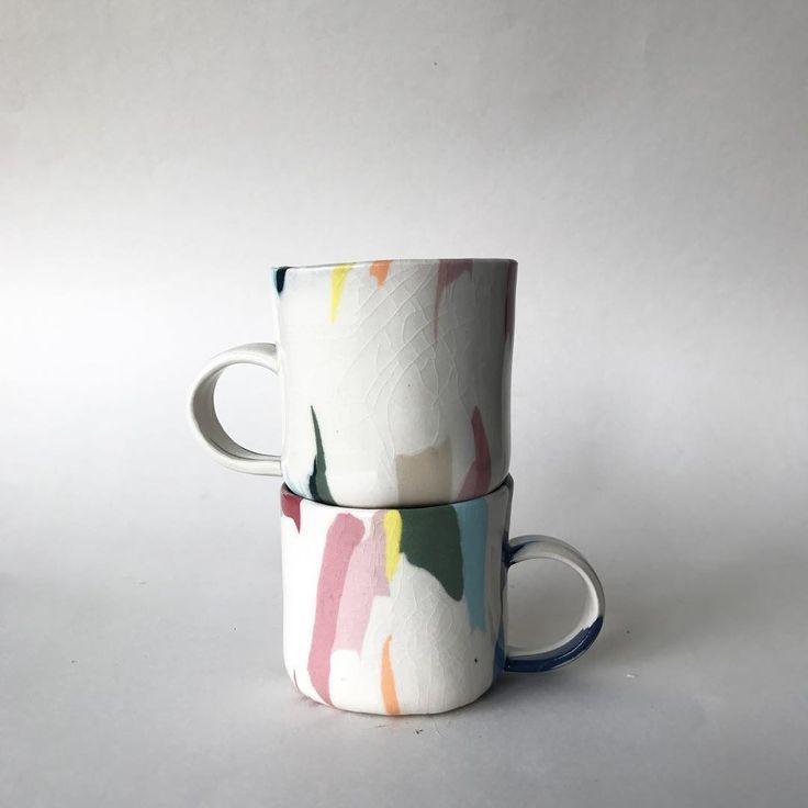 """Risa Nishimori on Instagram: """"Color series #ceramic #nerikomi"""""""