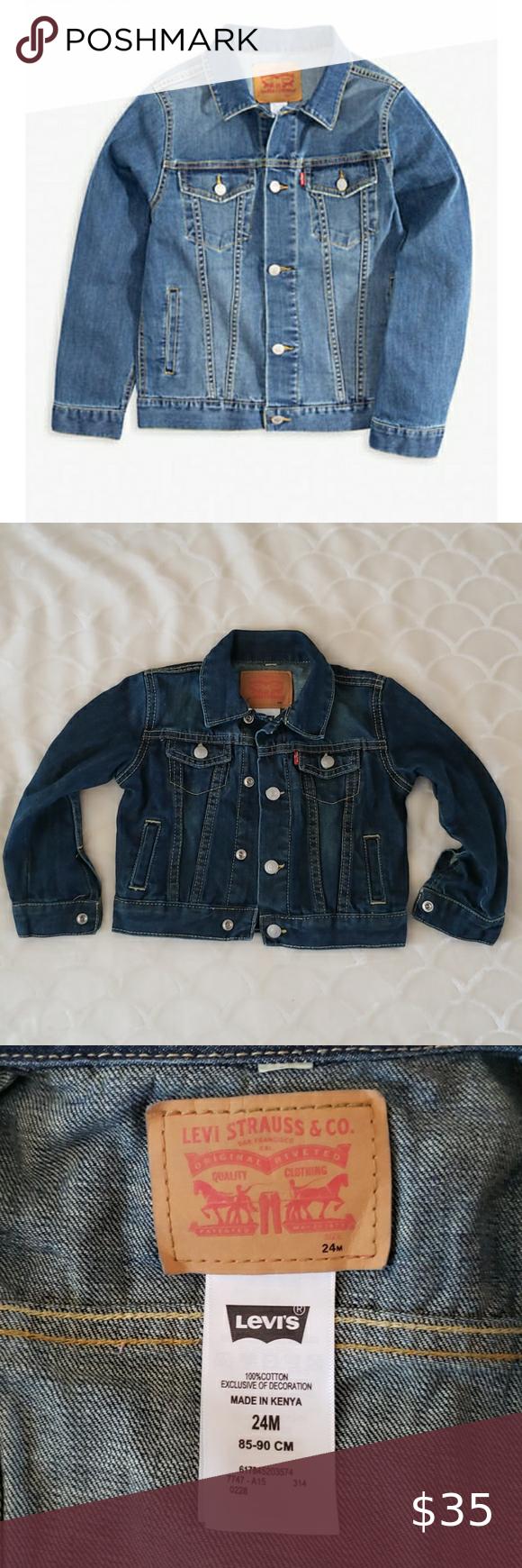 Boys Levi S Trucker Jean Jacket Size 24m N Brand New Tags Just Removed Boys Size 24 Months Levi S Girls Denim Jacket Kids Jeans Jacket Classic Denim Jacket [ 1740 x 580 Pixel ]