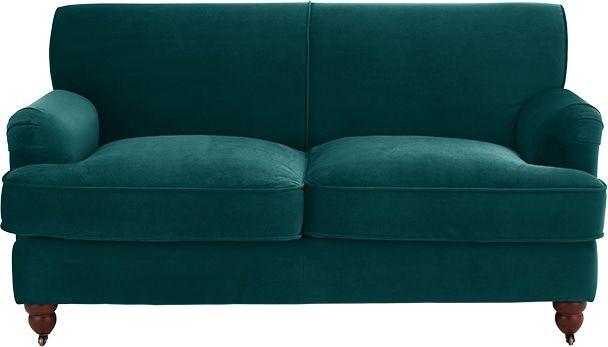 Made Seafoam Blue Velvet Sofa Blue Velvet Sofa 2 Seater Sofa