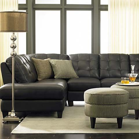 Bassett Furniture | Leather sofa set, Leather sectional ...