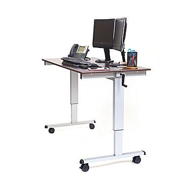 Luxor 60 W Adjustable Desk Laminate Wood Standup Cf60 Dw With