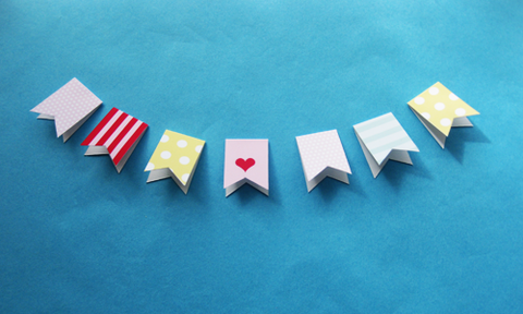 Feather Grey Mini Bunting Tutorial