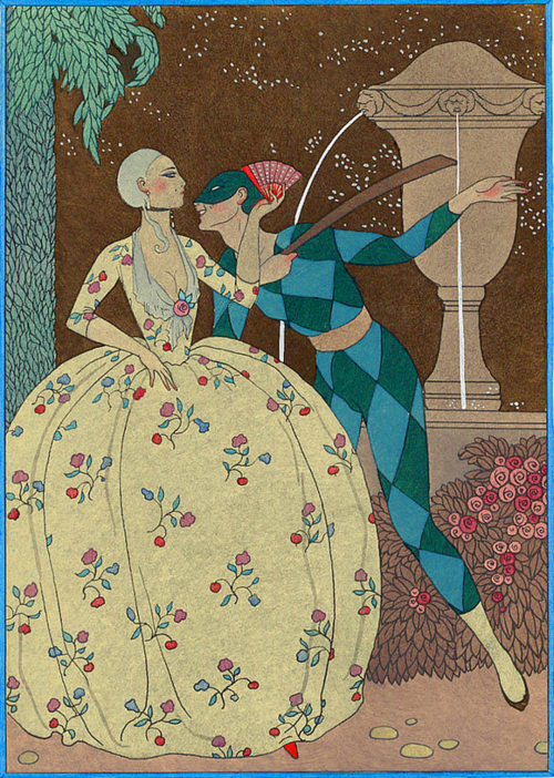 George Barbier, Arlequin, 1914