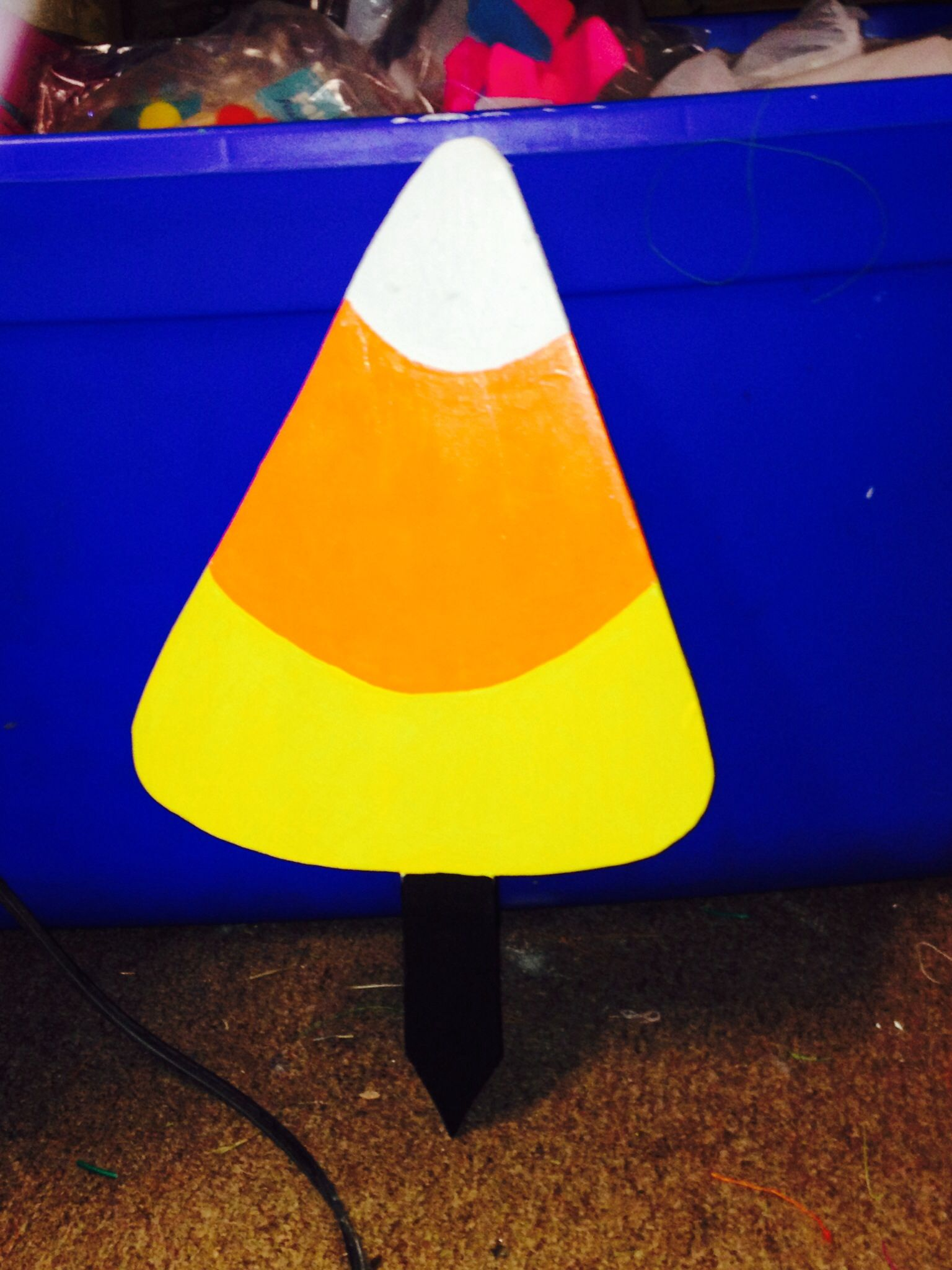 Hand Painted Candy Corn Yard Stake