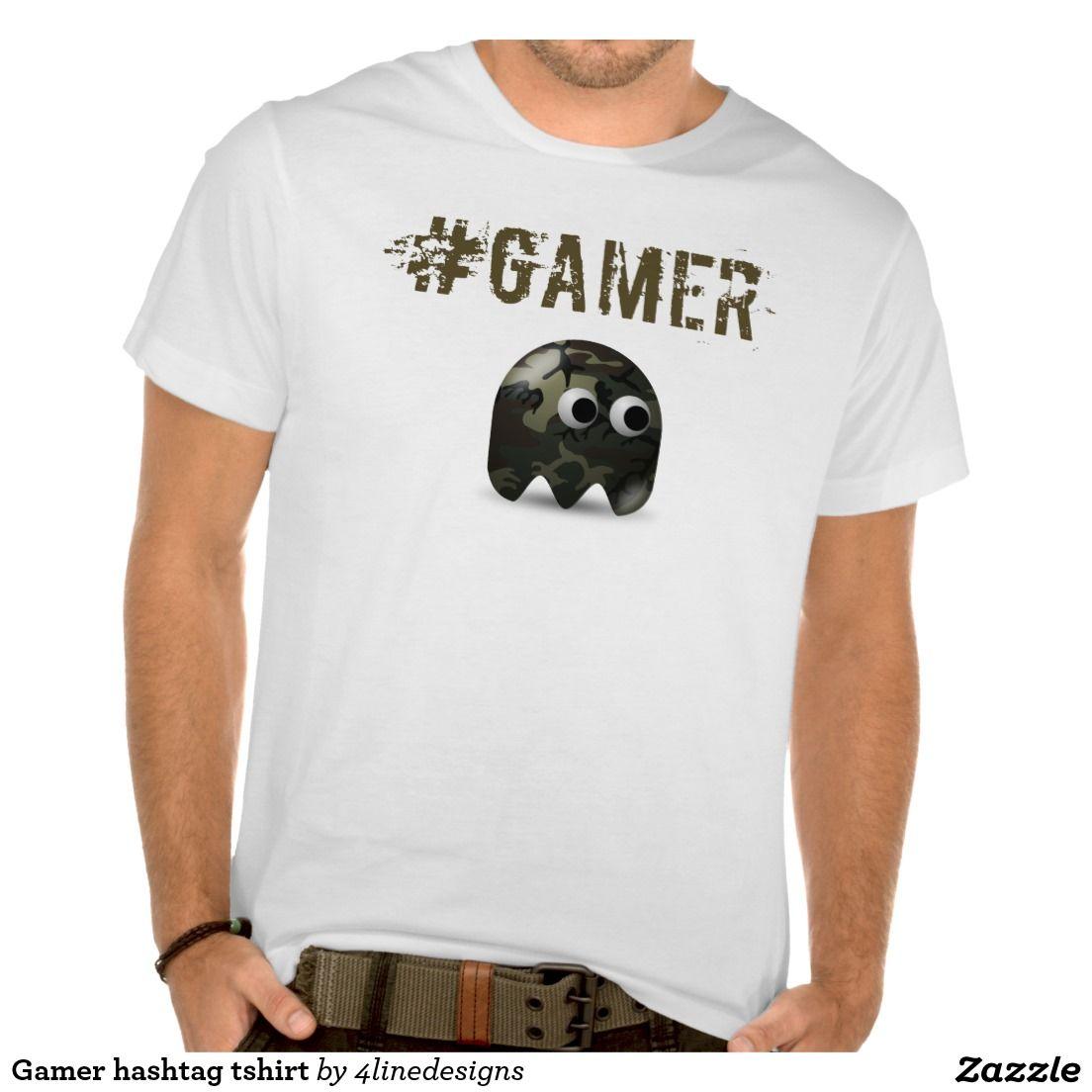 Gamer hashtag tshirt