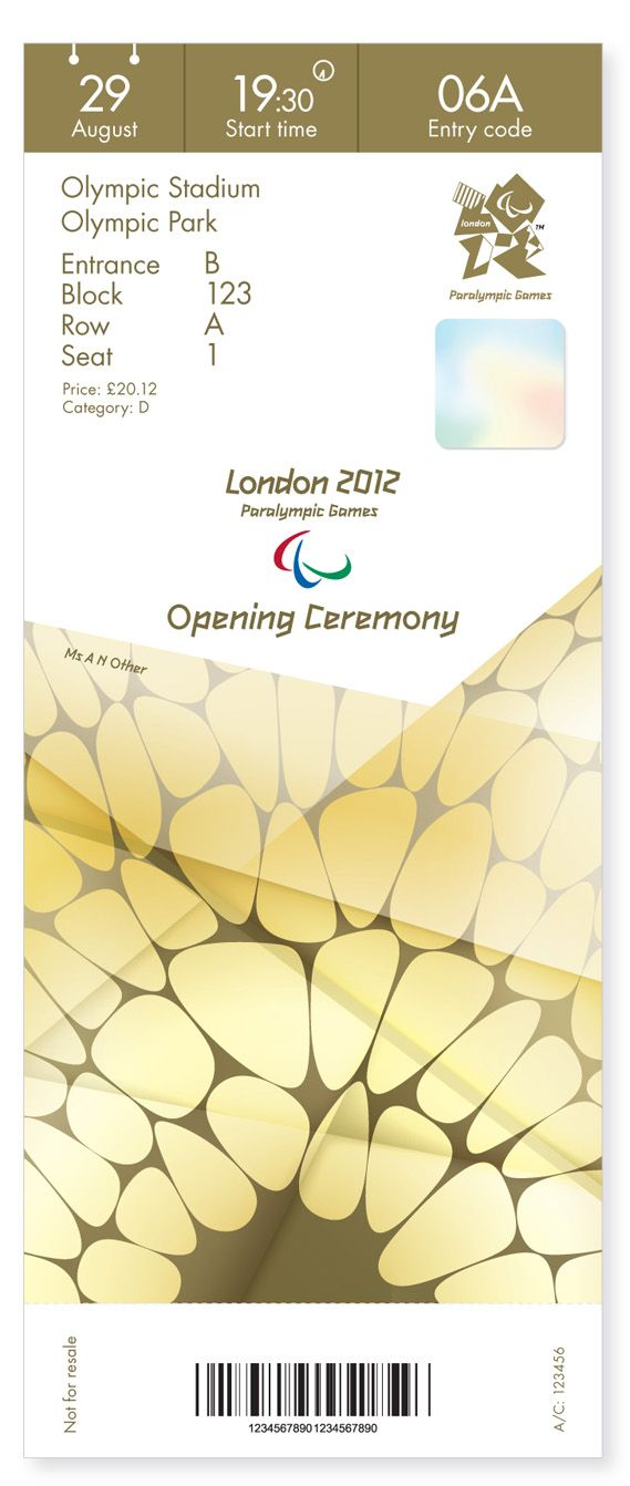 Creative Review - Opening Ceremony Olympics ticket designs revealed