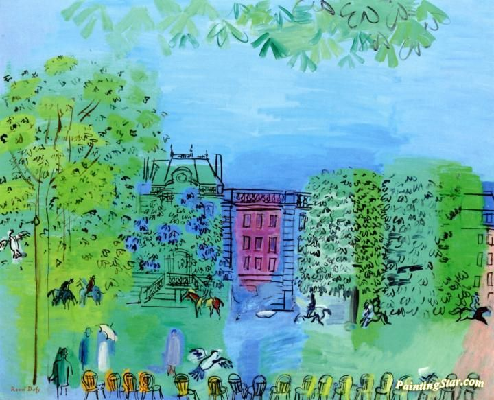 Avenue Du Bois De Boulogne Artwork by Raoul Dufy Hand-painted and Art Prints on canvas for sale,you can custom the size and frame