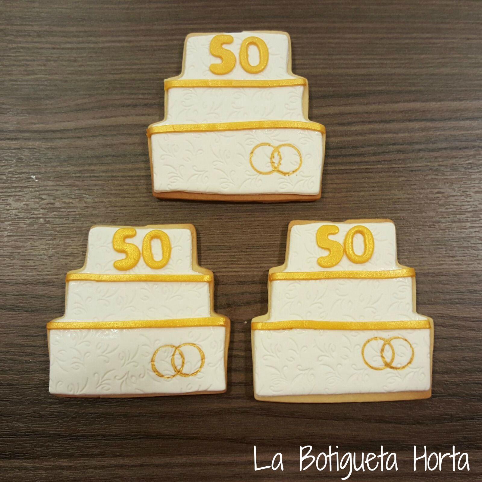 Galletas bodas de oro