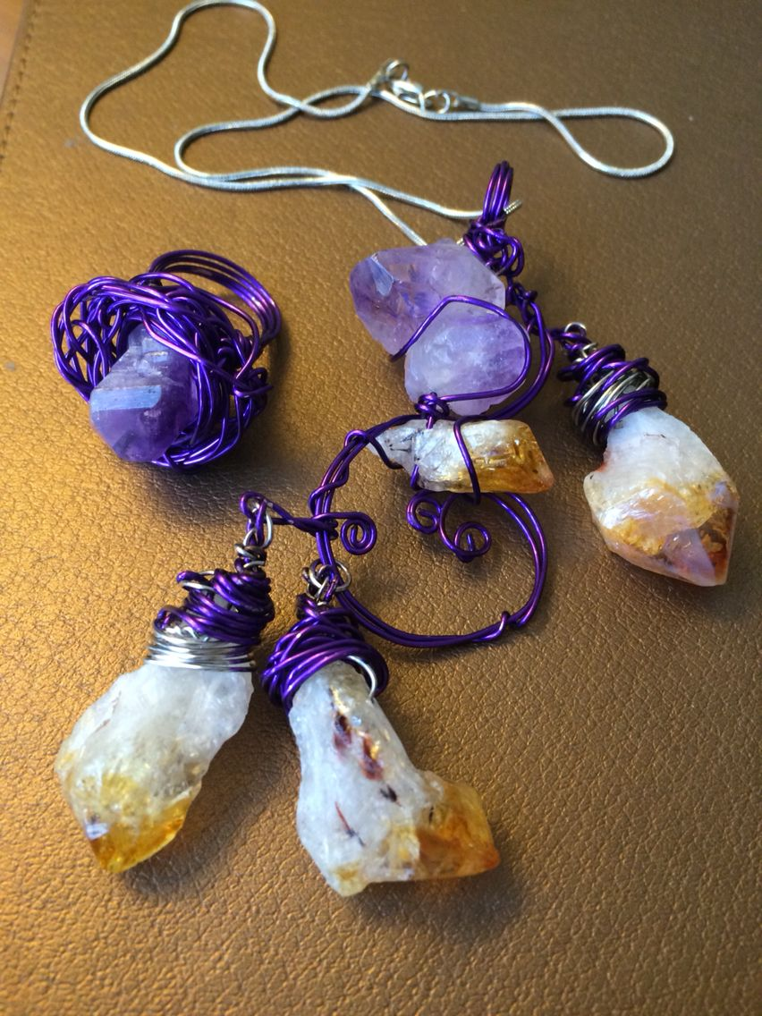 Amethyst purple and brown #artwire