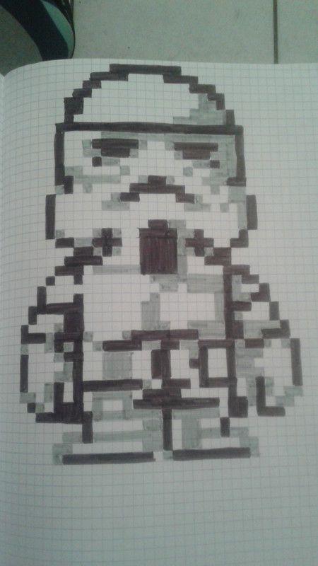 Stormtrooper Dessin Pixel Pixel Art Et Dessin Pixel Facile