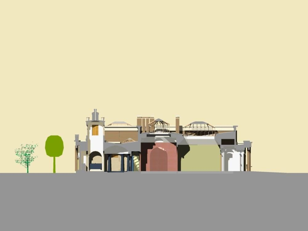 Dulwich Gallery cross-section | Pearltrees