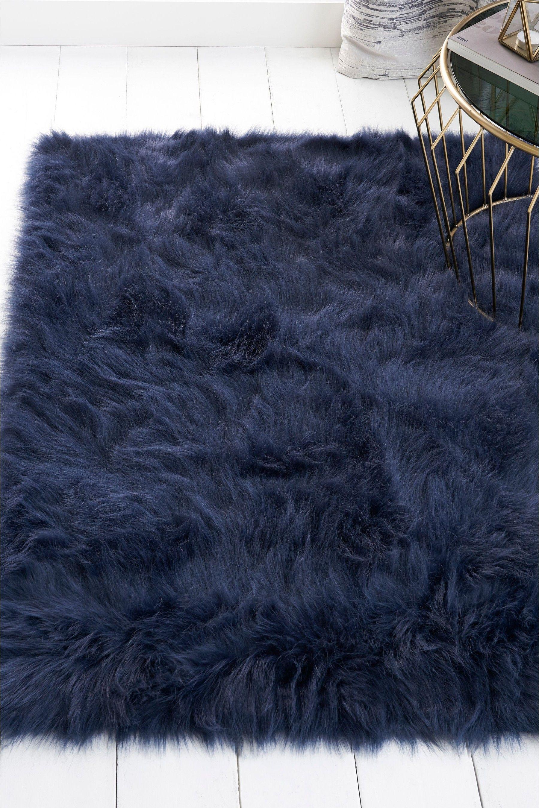 Next Faux Sheepskin Rug Blue Fur Rug Living Room Faux Sheepskin Rug Faux Fur Rug