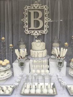 Diamonds And Pearls Candy Buffet All White Party Milestone Birthday Wedding Station