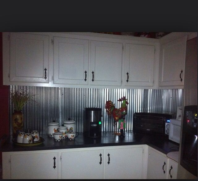 Kitchen Backsplash Tin: Corrugated Metal Backsplash Ideas