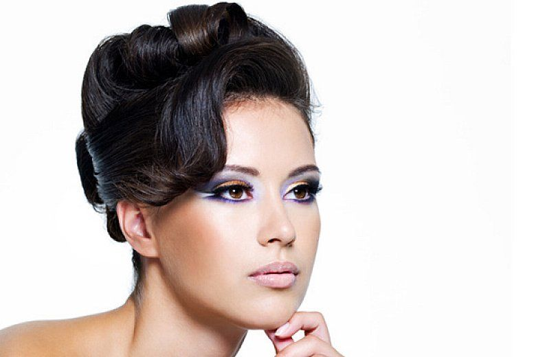 Short Hairstyles Sleek Pin Up Hairstyles With Side Swept