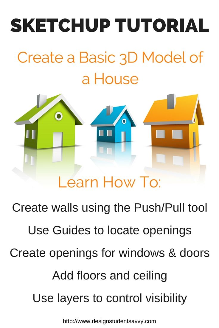 Sketchup House Tutorial For Beginners