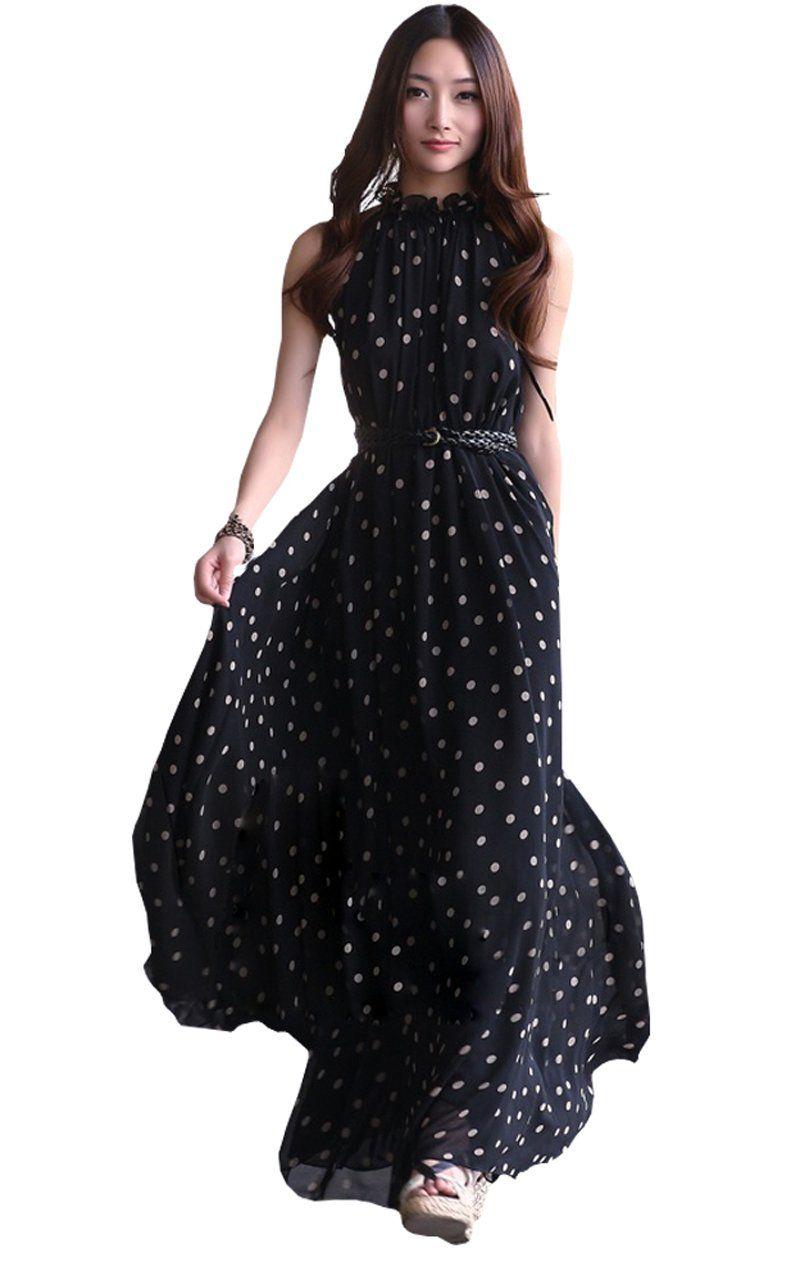 Kleid mit punkten lang