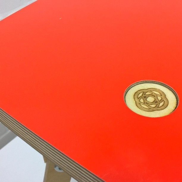 Fortuitous novelties blaze red stool #Formica #laminate #surfaces #design #decoration #madeinengland #ukdesign