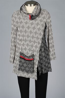 f5d0598301ae8 Y&S Fashion Designers - Top With Scarf - Black & White - New Items at  Fawbush's