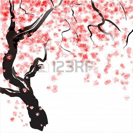 Cherry Blossom Watercolor Painting Cherry Blossom Tree Pink Etsy Paintings Art Prints Cherry Blossom Watercolor Giclee Art