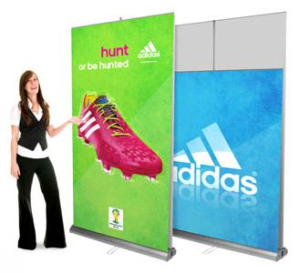 Portable Exhibition Banners : Double sided banner stand banners banner stands pop up banner