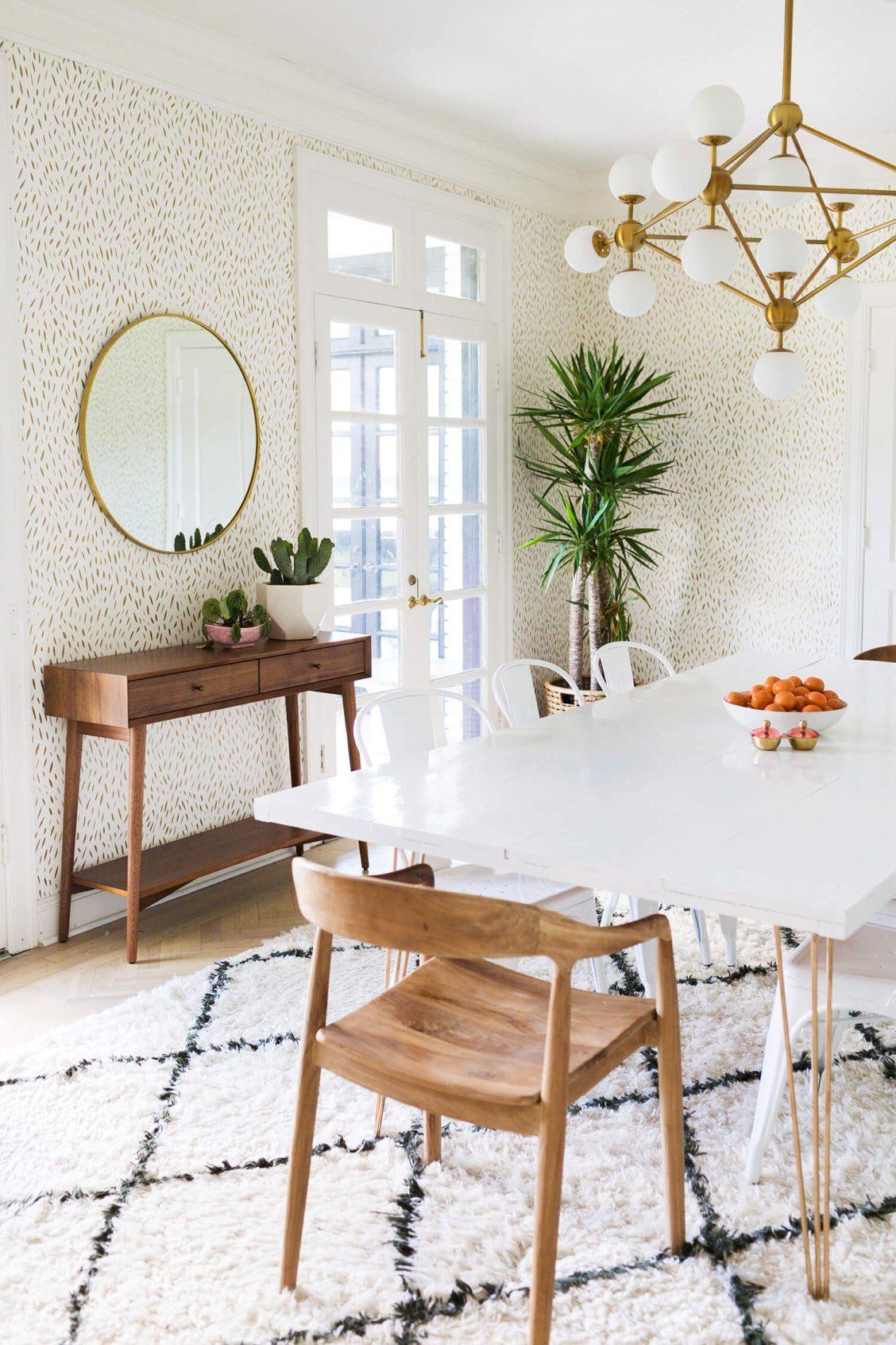 30 Oil Rubbed Bronze Round Metal Framed Mirror Rejuvenation Mid Century Dining Room Dining Room Rug Modern Dining Room