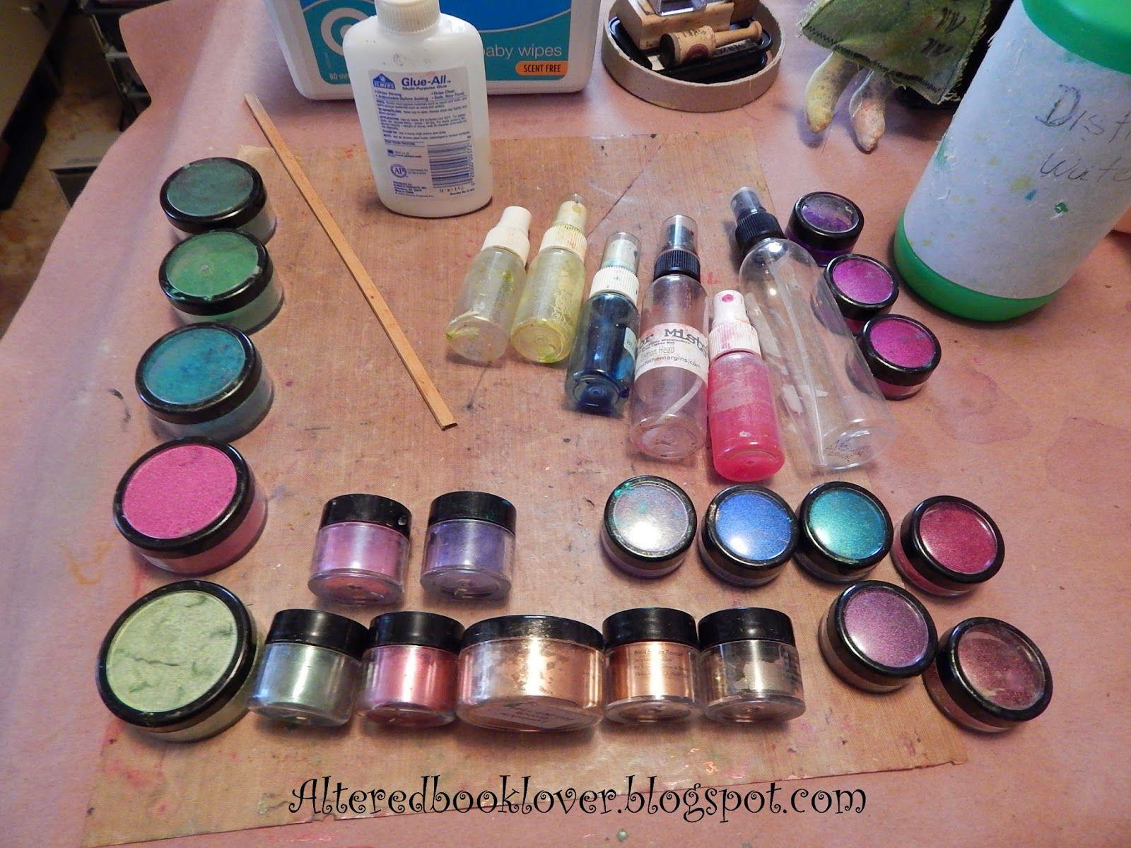 Mica powder shimmer mists DIY Craft supplies, Shimmer