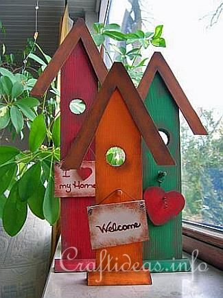 Summer wood craft idea wooden country birdhouses chest of drawers plan