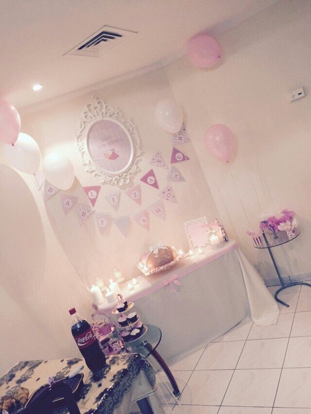 Baby shower for my liza done by me