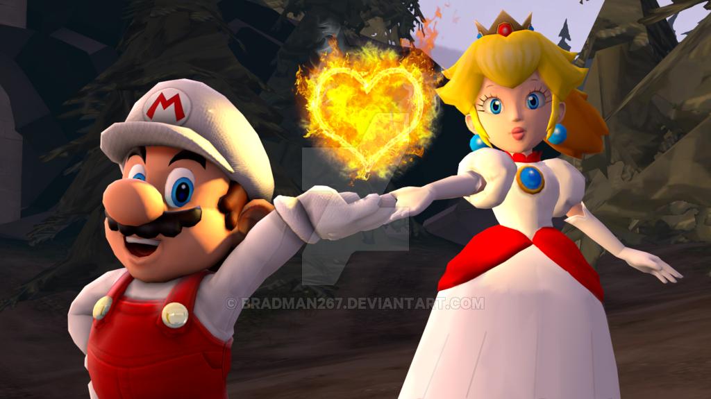 Mario And Peach: Burning Love By BradMan267 On DeviantArt