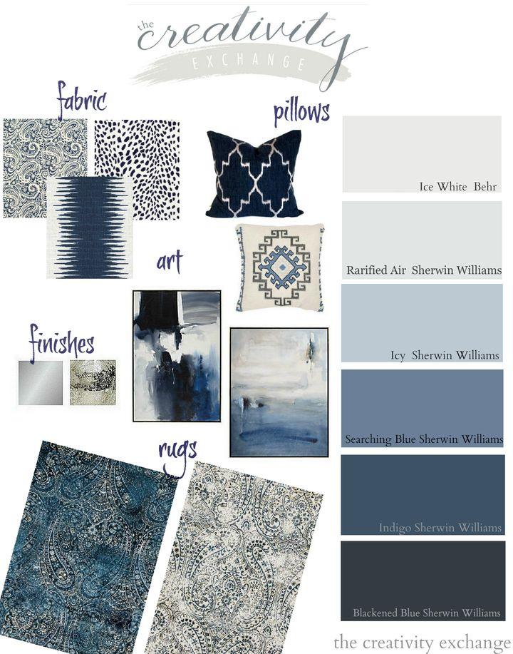 Layering Indigo Black And Gray Moody Monday Bedroom Colors