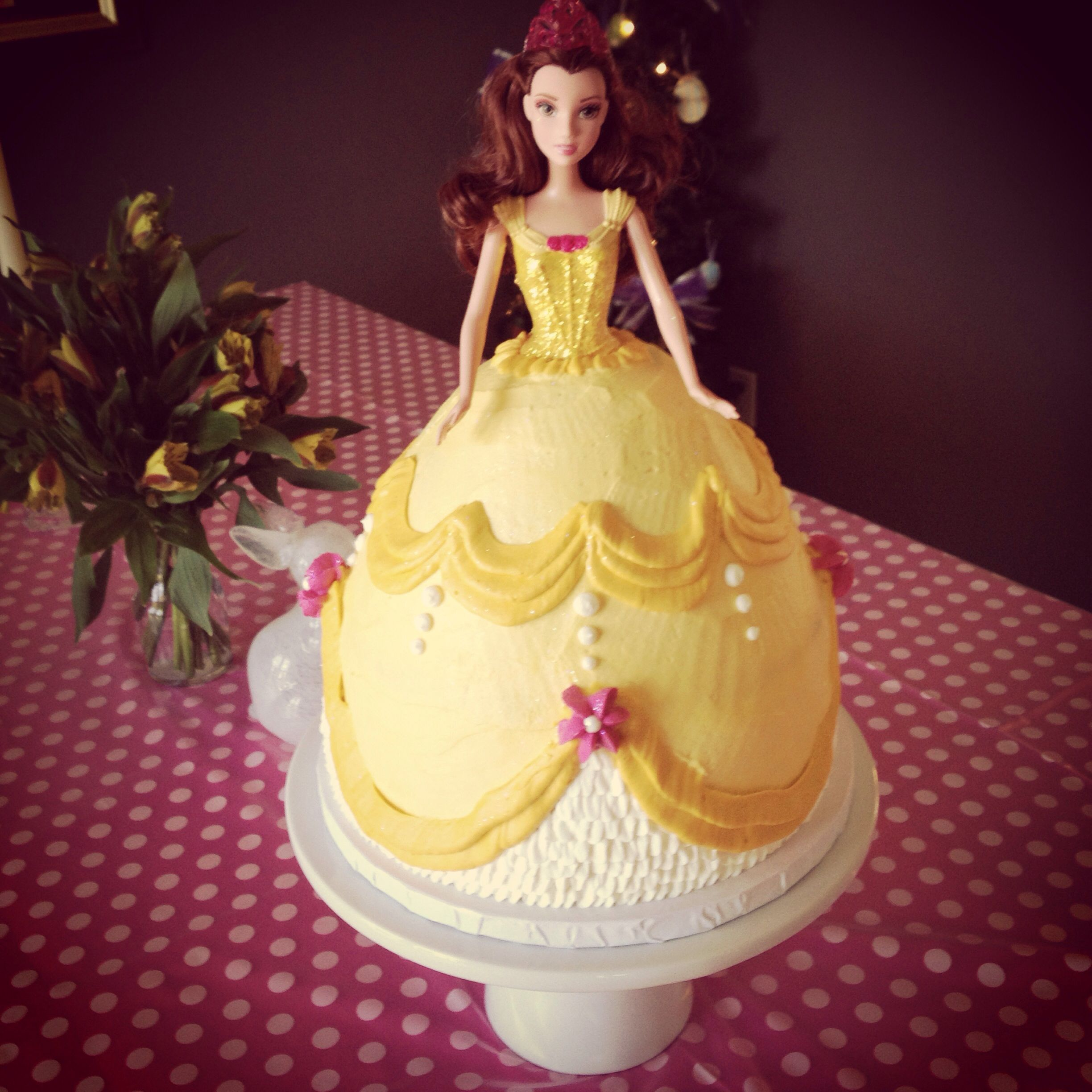 Disney S Beauty And The Beast Princess Belle Birthday Cake With