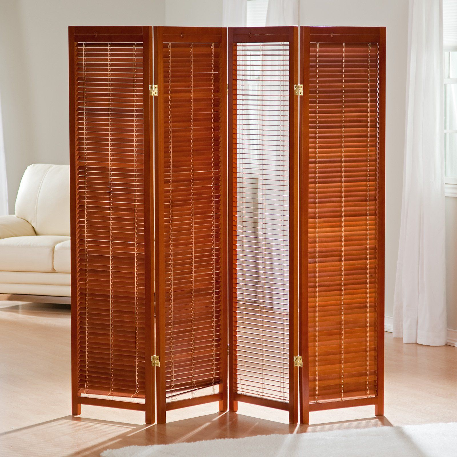 Have to have it Tranquility Wooden Shutter Screen Room Divider in