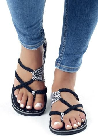 summer splicing flat sandals  adoreshe  ankle sandals