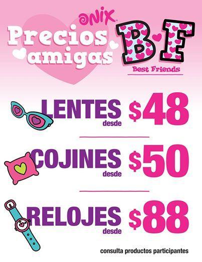 Onix: Ofertas San Valentín Lentes desde $48 La tienda de moda para adolescentes y niños Onix cuenta con muy buenos precios en departamento de niñas, a continuación te los presentamos: Ofertas Onix de amor y la amistad para amigas: > Lentes desde $48 pesos > Cojines de $50 pesos > Relo... -> http://www.cuponofertas.com.mx/oferta/onix-ofertas-san-valentin-lentes-desde-48/