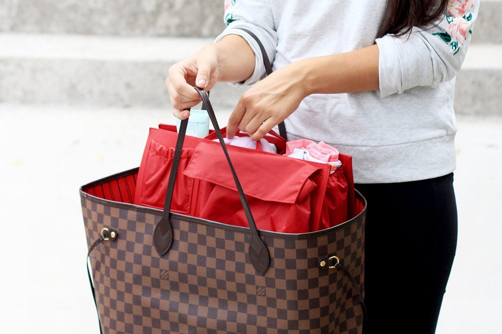 e167972ee65a Turn your favorite Louis Vuitton Neverfull GM or MM into a fully functional  diaper bag with