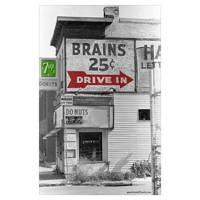 Small Brains 25 cents Poster