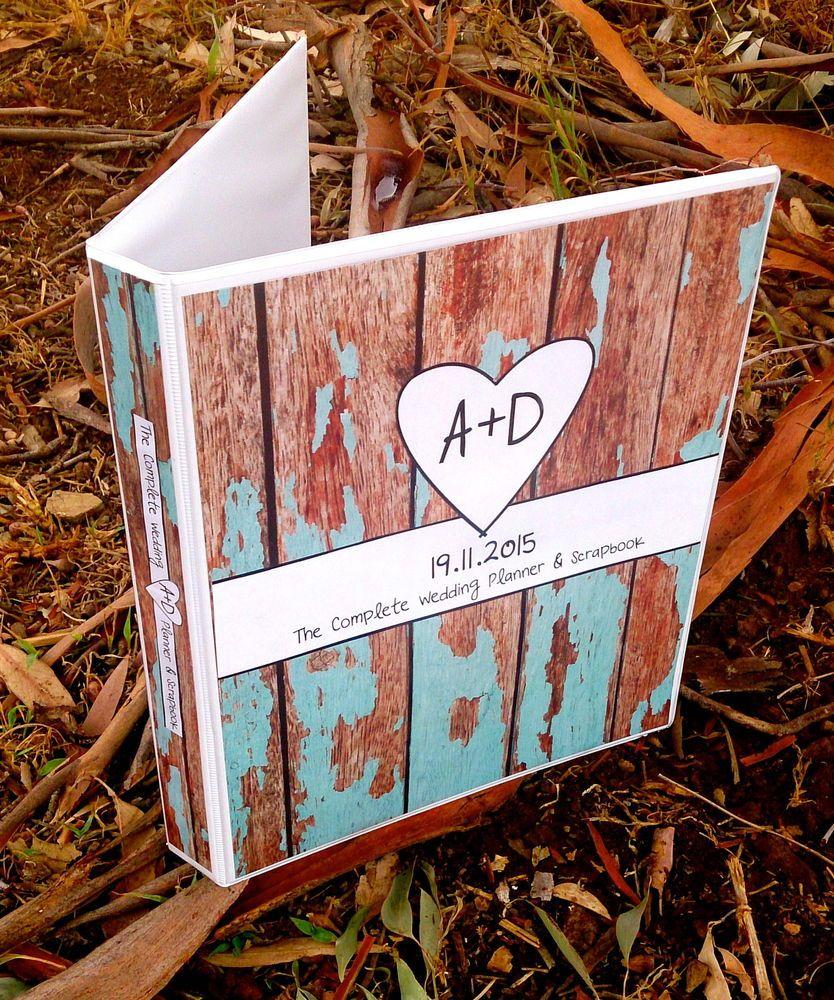 Custom Wedding Planner Scrapbook Timber Folder Book Diary Binder