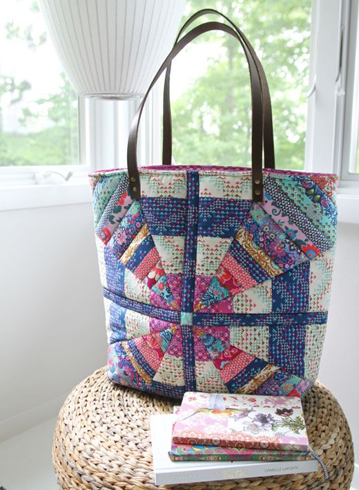 Quality Sewing Craft Kit Patchwork Quilted England Tote Bag