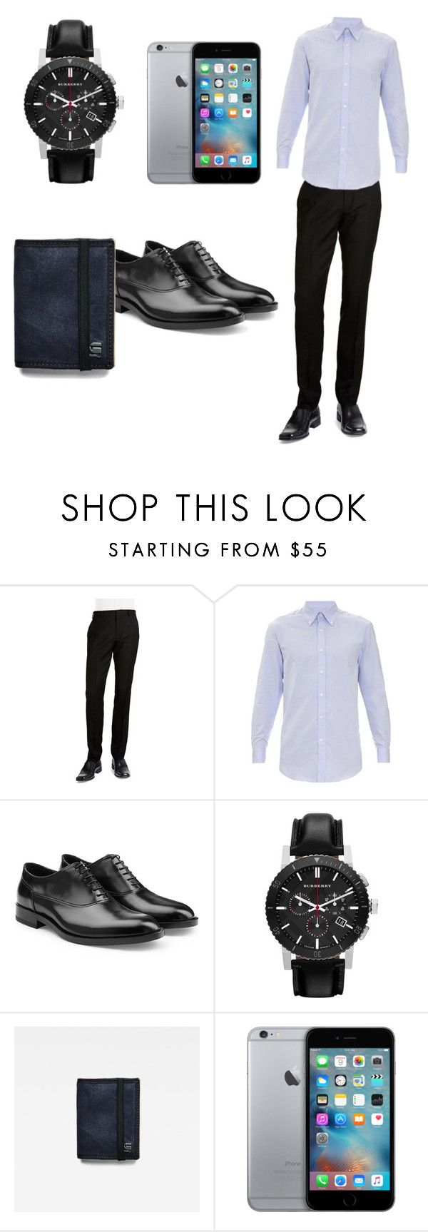 """My Father look"" by cute-awsome-flower ❤ liked on Polyvore featuring BLACK BROWN 1826, Gieves & Hawkes, Jil Sander, Burberry, G-Star Raw, men's fashion and menswear"
