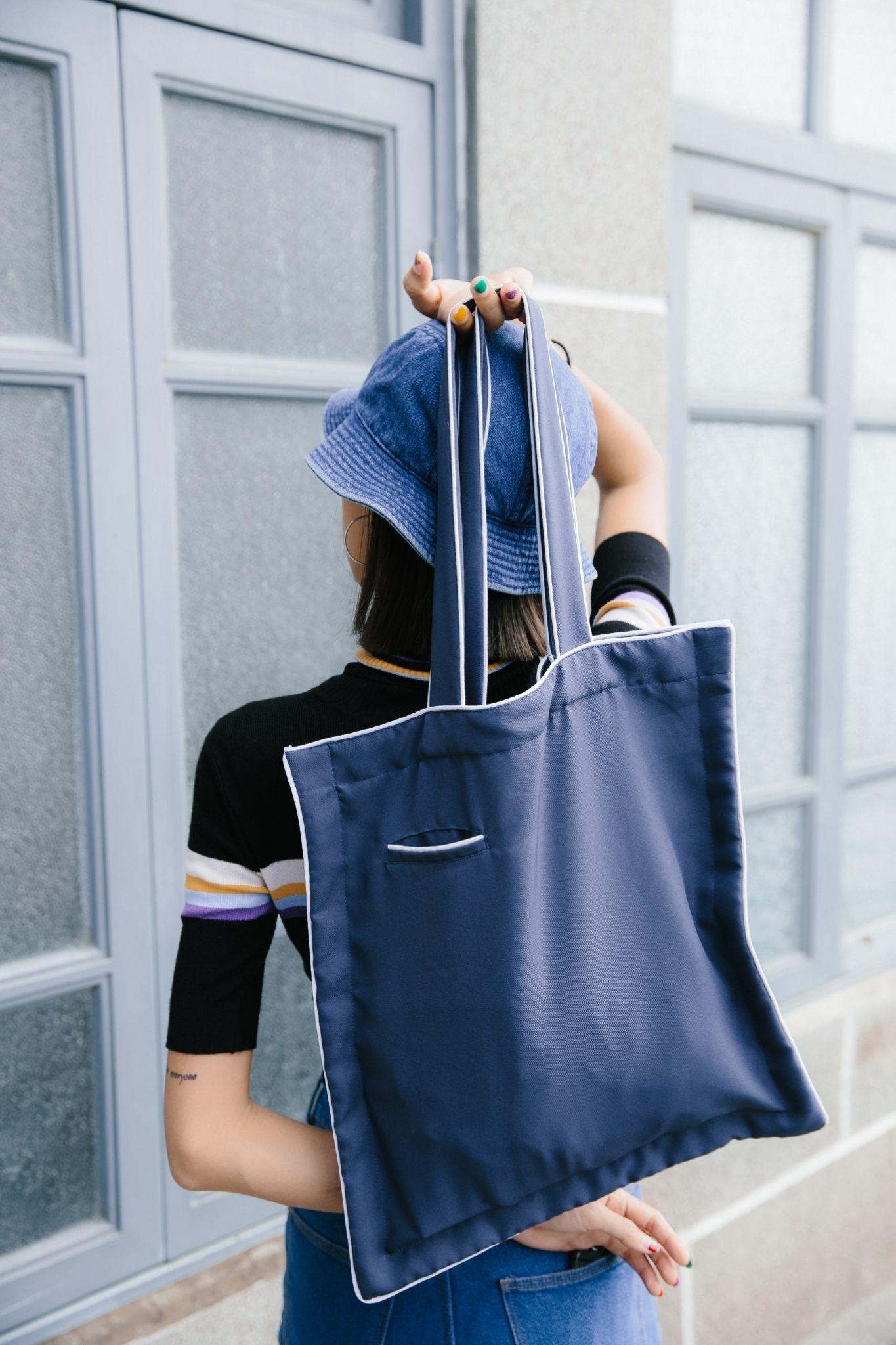 26d8f67501c8 Vavavala Tote – Navy Blue Tote Bag