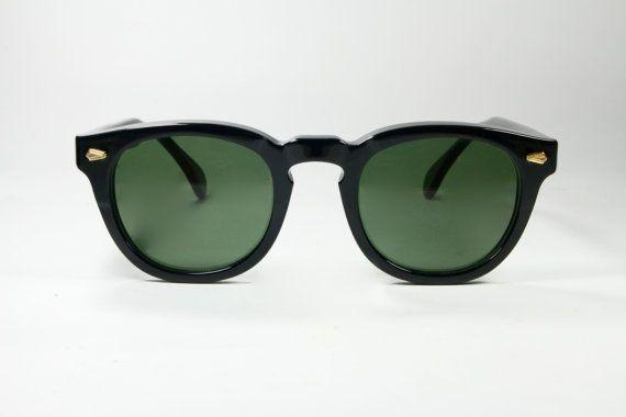 Black Pantos Horn rim sunglasses 50s style