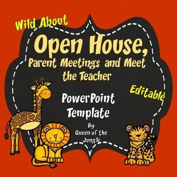 Back to School Open House Editable PowerPoint Template Open house - new jungle powerpoint template