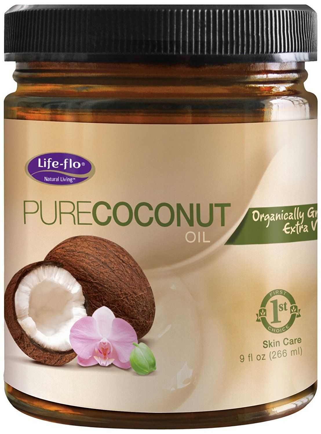 Life-Flo Organic Pure Coconut Oil, 9 Ounce * You can find