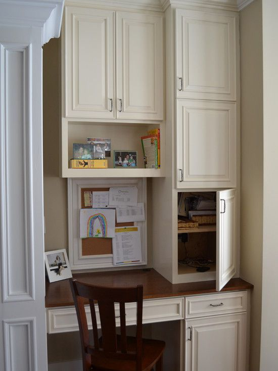 Built In Desk Design Pictures Remodel Decor And Ideas Page 34 Kitchen Desk Areas Kitchen Desks Built In Desk