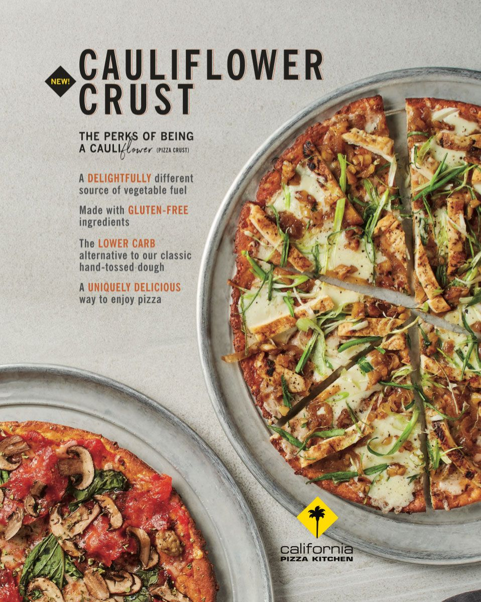 California Pizza Kitchen Is Rolling Out Cauliflower Pizza Crust