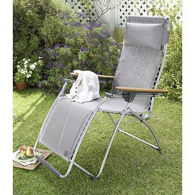 Lafuma garden recliner - lifesaver during my troublesome neck surgery months.