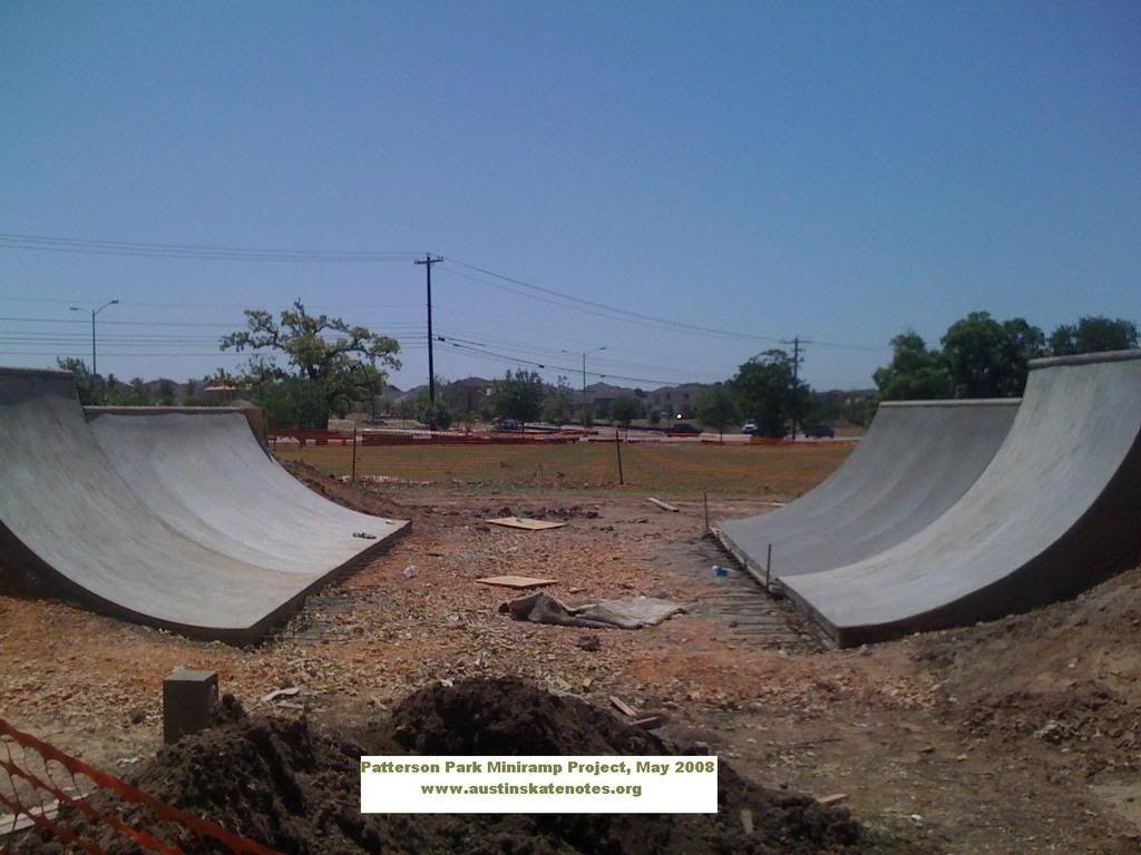 Free mini halfpipe plans - Patterson Park Cement Mini Ramp Project Halfpipe Skateramp