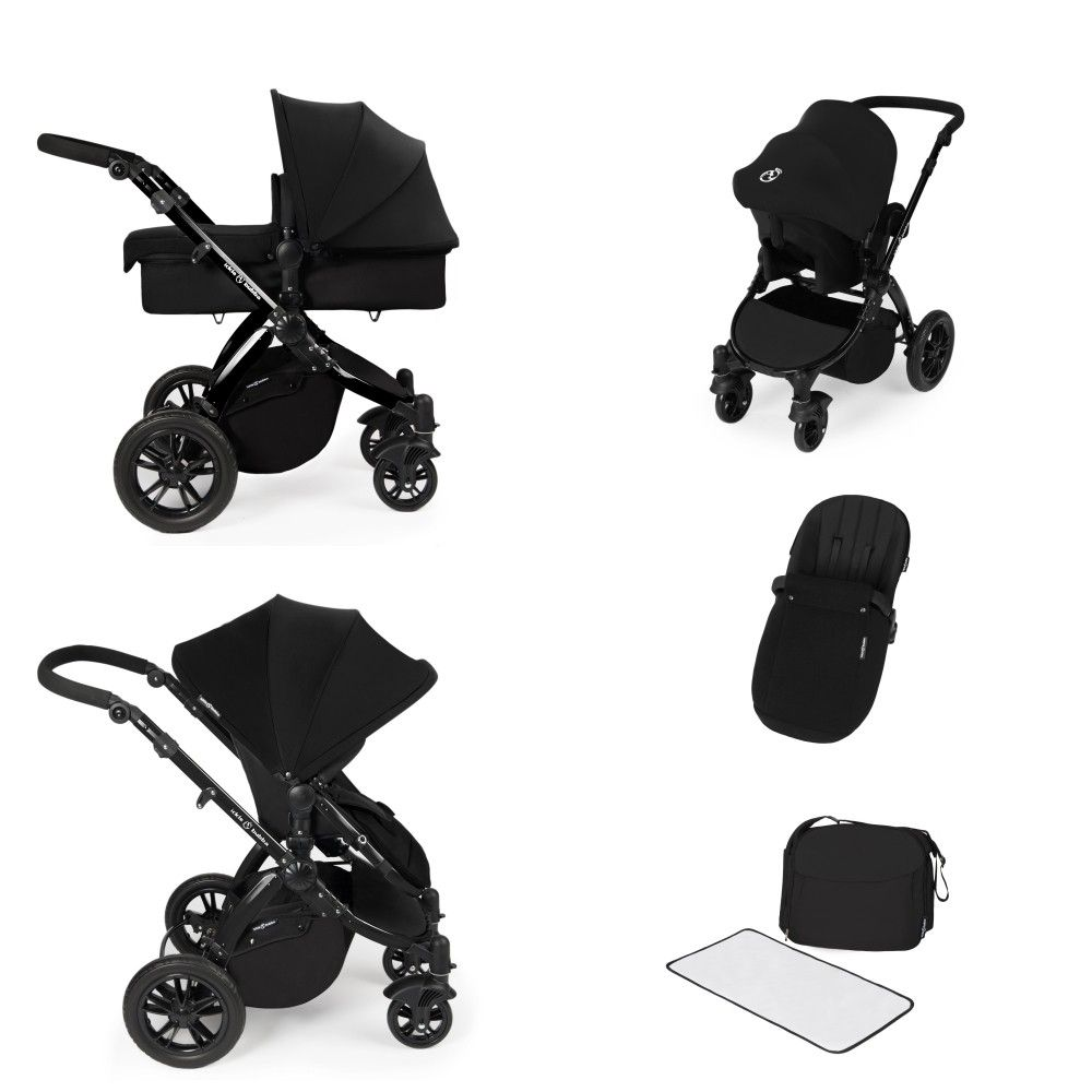 Ickle Bubba Stomp V2 Black All In One Travel System Black Baby  # Muebles Ros Bubua
