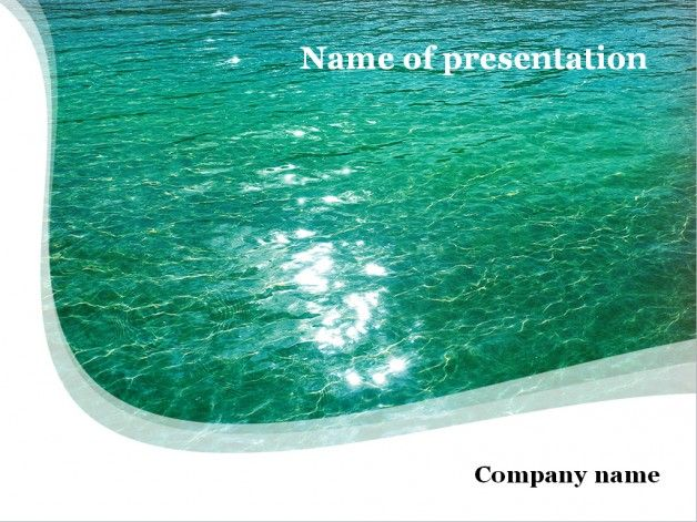 Green water powerpoint template Templates Pinterest Template - water powerpoint template
